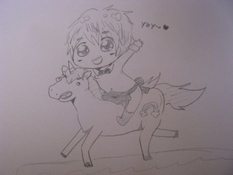 IM RIDIN' MAH UNICORN by ayuumu