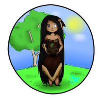 Commission: Discet: Chibi Nature Goddess by AzeeraTheNinja