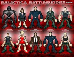 Galactica Battlebuddies Set 1 by grantgoboom
