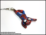 Hangin' Around Spiderman Phone Charm by GrandmaThunderpants