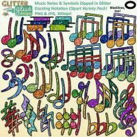 Colorful music notes by amberbateman