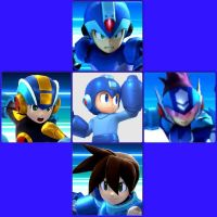 MegaMan and his Co-Stars in Smash Bros 4 by FireFeyRose412