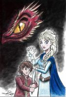 The Hobbit and the Snow Queen, The Cover Art by moviedragon009v2