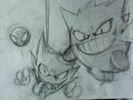 Gangar Evolution Chain sketch by lxavier