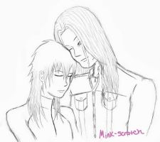 Mink and Aoba by Cutieloveshernerds