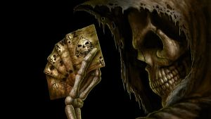 Skull And Cards by face2ook