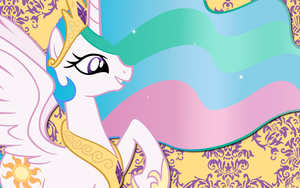 Princess Celestia wall paper 7 by AliceHumanSacrifice0