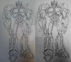 TF Prime Optimus Prime sketch 1-3.7.12 by itamar050