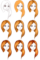 Hair steps by Deavelyn
