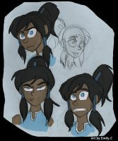 Korra Face sketches. by Freakly-Show