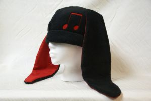 Music Bunny Hat by The-BlueKitty