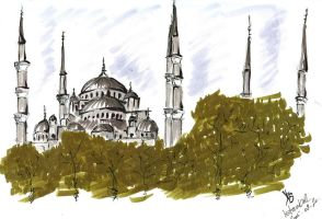iTravel: Blue Mosque, Istanbul by nyaubaby