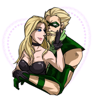 Green arrow and Black Canary by KATANO-KS