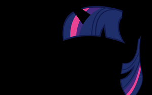 Twilight Sparkle Silhouette BG by VaneFox