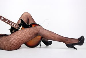 Guitar and legs by Aszap