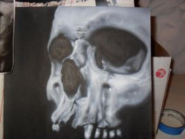 Realistic skull - Airbrush by ProAir