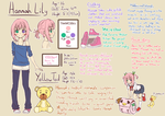 Hannah Lily: My OC reference sheet (updated) by AnArtistApprentice