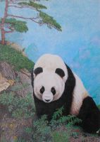 Panda Pointillism by Kchan27