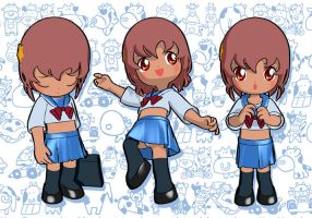 3D Ko-chan anime character by RosaKiddy