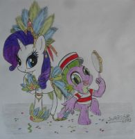 Rarity and Spike - Its Samba Time by Superstar4071