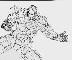 IRON MAN SKETCH by Mjones456