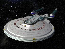 First try at 3DS: Enterprise B by fallowbuck