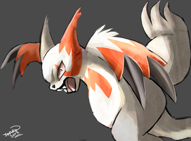 Zangoose by Ryan-sprite