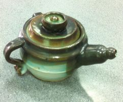 Dual Handle Teapot by crimsonblossom42