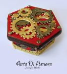 Red Steampunk Box by ArteDiAmore