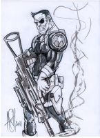 Nick Fury by scarecrowhassan