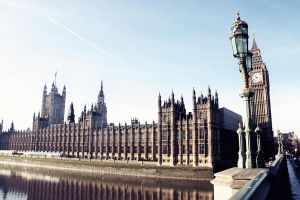Parliament and the Thames by vampynicole