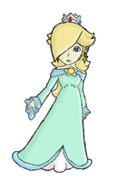 Mario Kart 7 : Princess Rosalina Colored by FantasyXII
