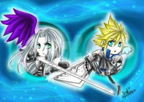FFVII: Sep and Clo Materia by DarkLitria
