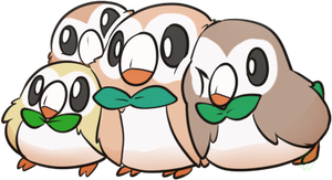 Rowlet doodle by Gatodae