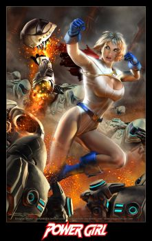 POWER GIRL on Apokolips by DouglasShuler