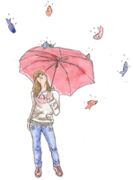 Raining Fish - Color by oblivion-of-sanity
