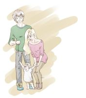 Young family by IreCalde