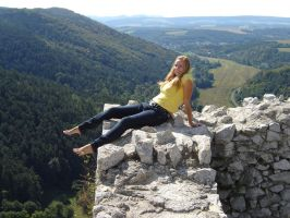 Barefoot on the ruins of castle 1 by barefootersk