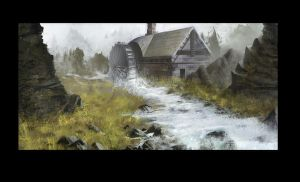 water mill by BurningBrushGallery