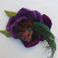Peacock Rose by tracyholcomb