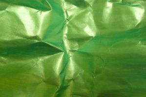 Crumpled Green Paper 3 by Niedec-STOCK