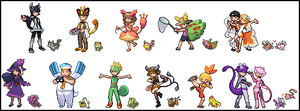 Pokemon Trainers: D O S. by Band-junk