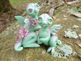 Cherry Blossom Dragon Pals by MysticReflections