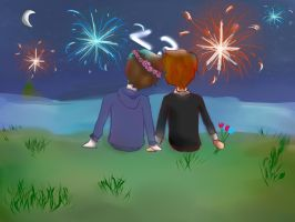 [Poofless] Fireworks & Flowers by BellaVGG