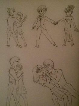 (Somewhat) Romantic Poses. by V-nigma-17