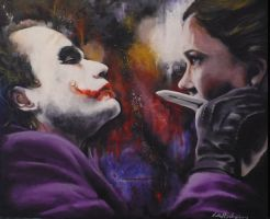 Joker and Rachel with splatter by sullen-skrewt