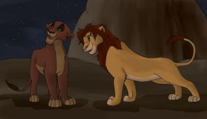 Kovu and Kiara by PheaVampire