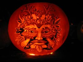 Pumpkin - Green Man 2 by snerk