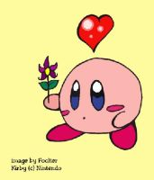Lil pink Kirby by Foolter