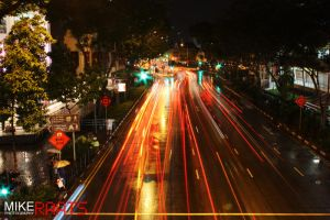 Singapore Night Photography 1 by MikeRaats